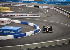 David Coulthard demonstrating the Red Bull F1 Showcar