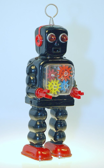 Vintage Toy Robots : Vintage toy tin wind up robot flickr photo sharing