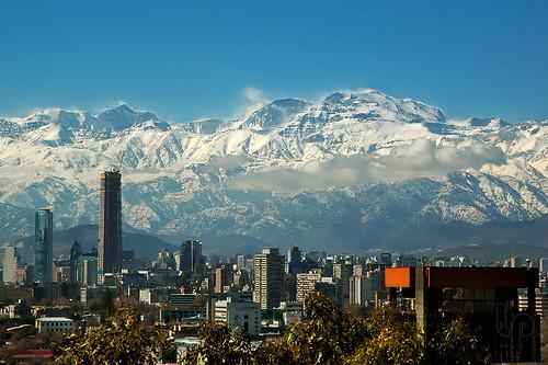 chile city santiago snow mountains nieve ciudad cordillera montañas sudamerica cordilleradelosandes luchitomario