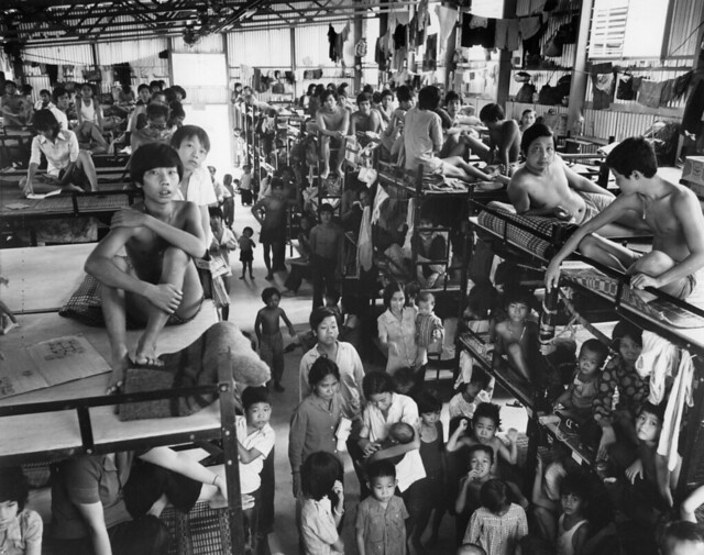 1979 Refugees At The Red Cross Run Camp In Kai Tak
