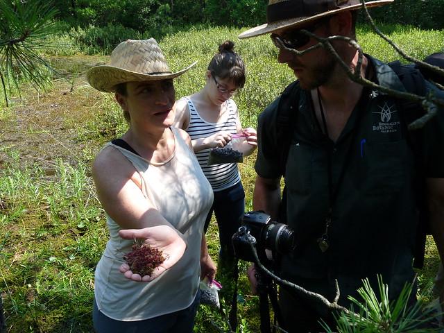 Amy Van Ry, director of Institutional Funding, asks Uli Lorimer about her findings. Photo by Lauren Deutsch.
