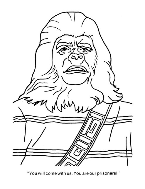 Planet of the Apes Coloring Book 0100035