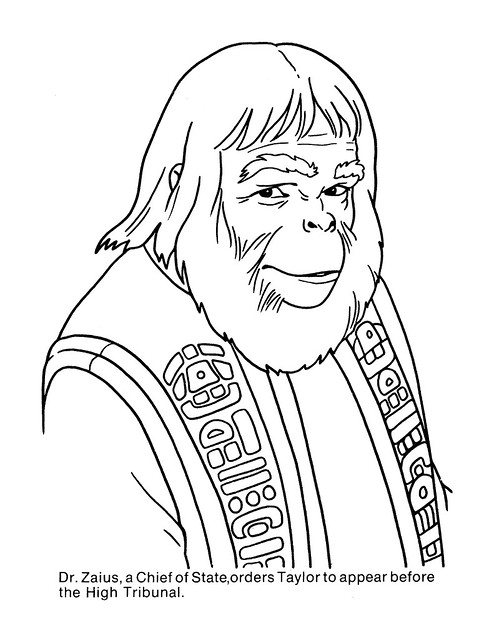 Planet of the Apes Coloring Book 0200047