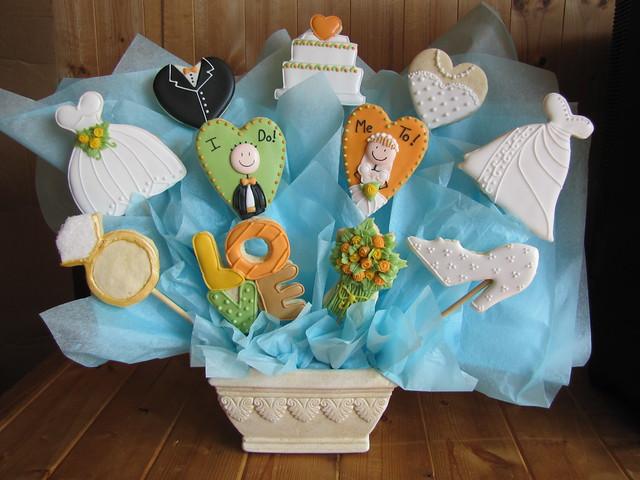 Bridal Shower Cookie Bouquet
