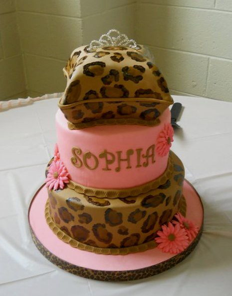 Cheetah Print Baby Shower Theme http://www.flickr.com/photos/valscustomcakes/6020294102/