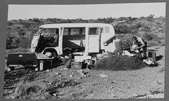 Kombi camping on Cape Range