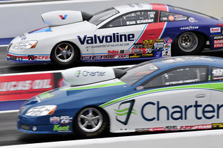 Ron Krisher, Valvoline and Steve Kent, Charter, Pro Stock _DSC5391