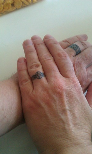 Wedding ring tattoos by suredoc