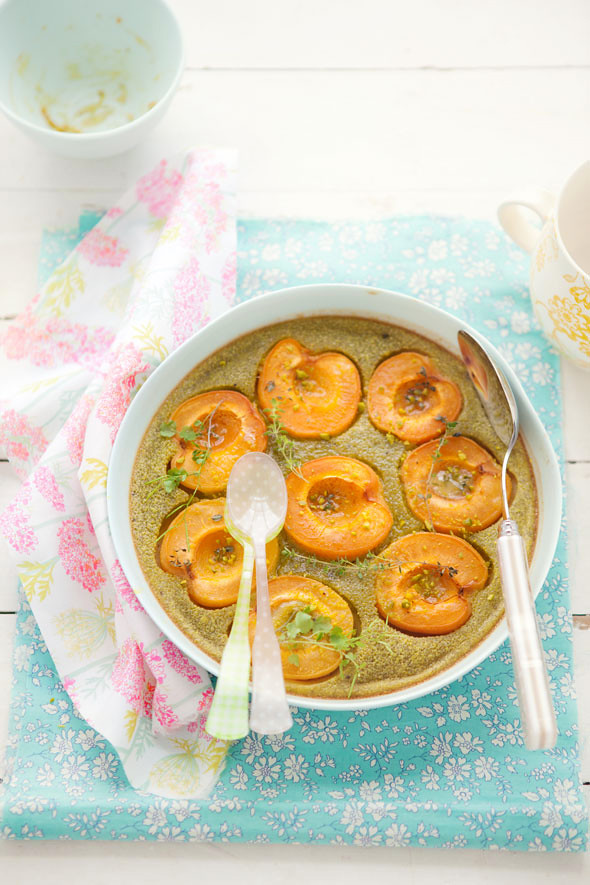 apricot and pistachio clafoutis kind of day
