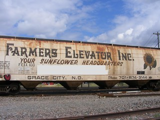I had to buff the eyesore involved with this extremely rare and hard to find grainer from Grace City, ND.