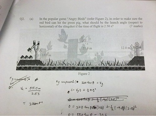 Angry Birds Physics Problem