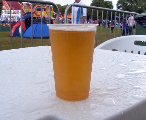 Tasty festival beer
