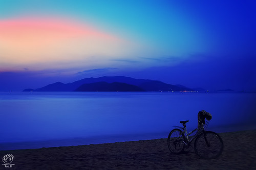 longexposure beach beautiful sunrise landscape pretty pentax tamron bycicle k7 teah 2875
