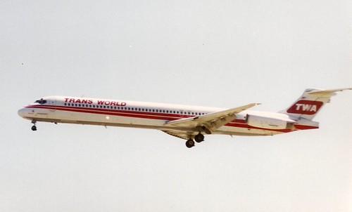 TWA MD-81 at SJC