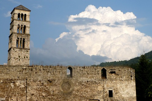 travel sky cloud tower wall architecture bosnia medieval fortress federation hercegovina balkan republika jajce srpska cloudsstormssunsetssunrises