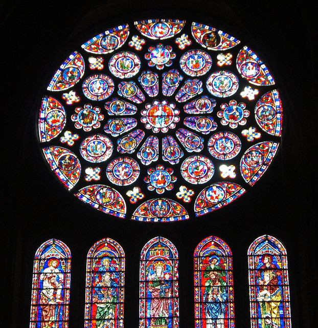 chartres cathedral rose window flickr photo sharing