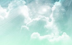 Free Abstract Cloudy Sky  Light Blue Background