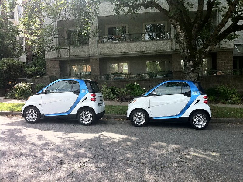 Two car2go cars