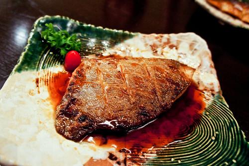 Teriyaki grilled Japanese boarfish