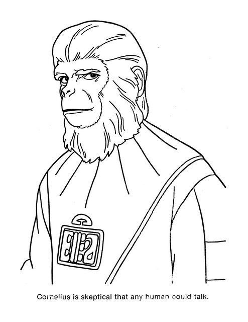 Planet of the Apes Coloring Book 0200040