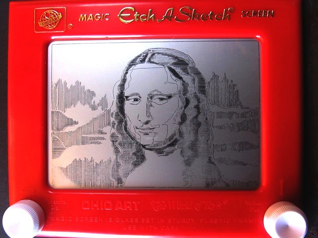 Etch a Sketch Mona Lisa