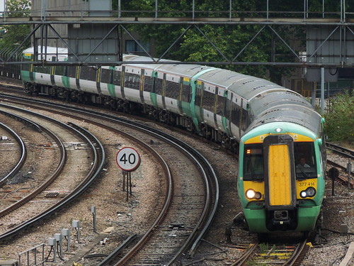 Class 377 near London Victoria