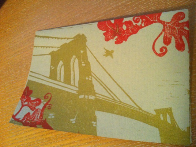 Wedding Thank You Card- Brooklyn Bridge