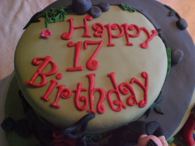 Happy 17th Birthday Cake