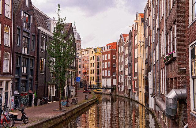 Nice channel in Amsterdam