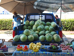 Shreveport Farmers' Market: Truck full of melons