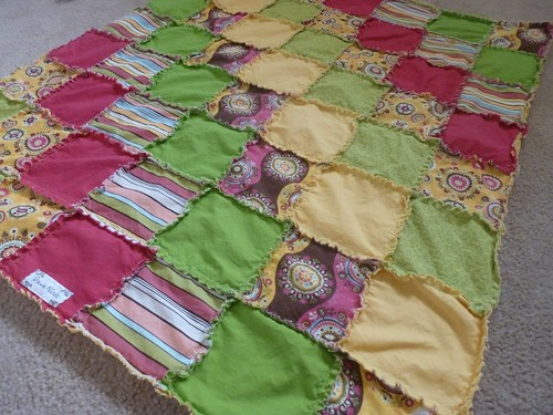 Shabby Chic Frayed Edge Blanket