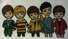 Completed SHINee fan art cross stitch