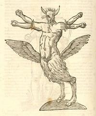Monstrum tetrachiron alatum capite humano aurito