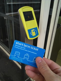 Myki short term ticket