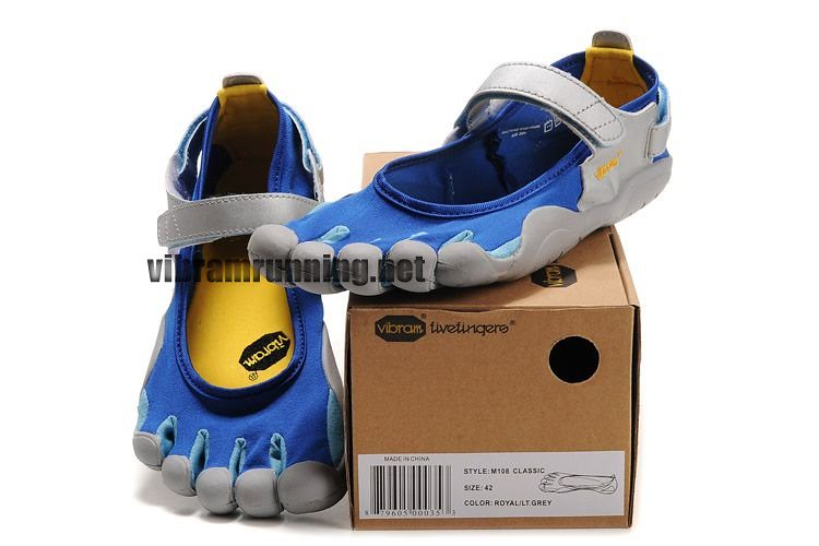 brand new ab076 67178 ... Mens Vibram Fivefingers Sprint shoes blue silver   by Michele Lafavor