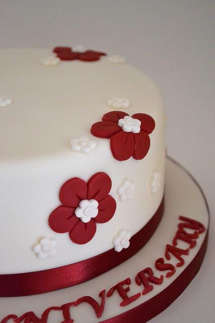 Wedding Anniversary Gifts 1-100 : Ruby Wedding Anniversary Cake FlickrPhoto Sharing!