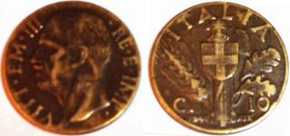 Italy 10 centesimos 1941
