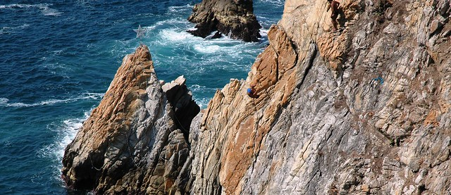 Cliff divers at La Quebrada, Acapulco, Mexico