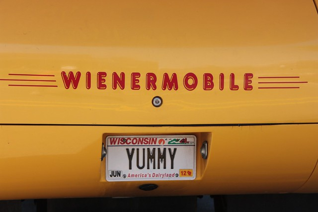 Wienermobile Licence Plate