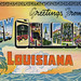 Greetings from New Orleans, Louisiana - Large Letter Postcard