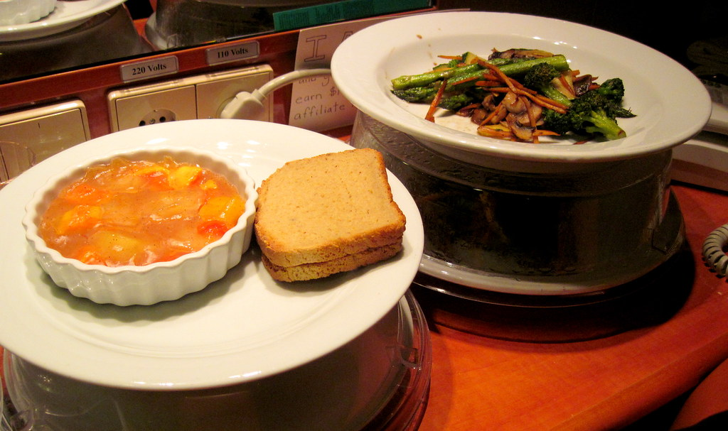 Vegan and gluten-free food on a cruise ship