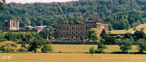 Chatsworth House, Peak District in Derbyshire (35mm) by Stocker Images