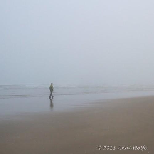 mist beach fog oregon coast pacificnorthwest