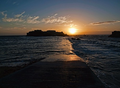 sunset flood fort tide victorian alderney causway clonque