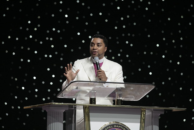 Bishop Clarence McClendon speaking
