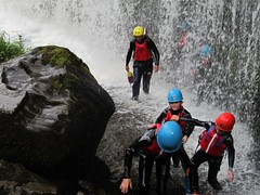mountaineering(0.0), climbing(0.0), adventure(1.0), sports(1.0), recreation(1.0), outdoor recreation(1.0), coasteering(1.0), extreme sport(1.0), canyoning(1.0),