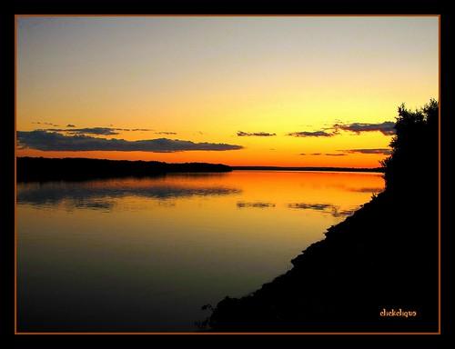 blue friends sunset orange black reflection yellow clouds river saintjohnriver natureiswonderful