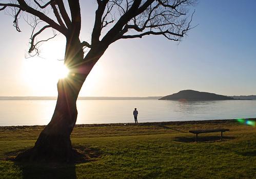 sunset newzealand sun lake silhouette landscape bay nikon rotorua nz geothermal hannahs d60