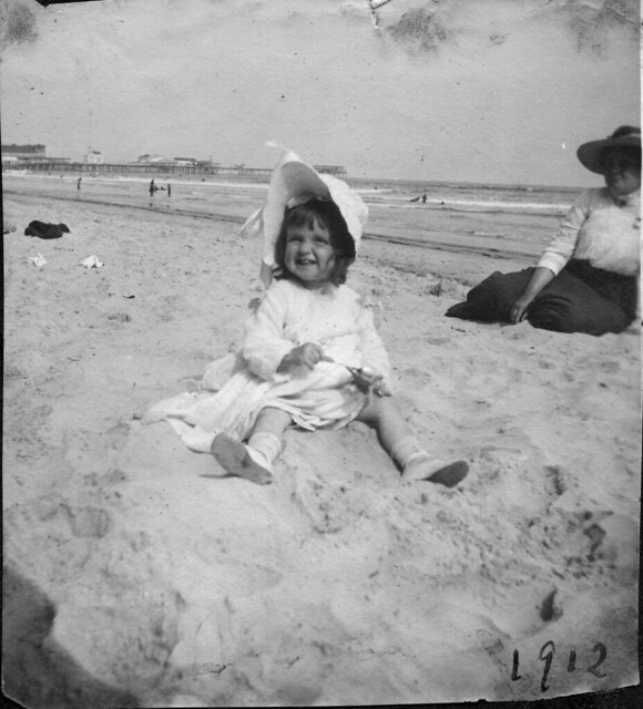 Girl in sand, Atlantic City, New Jersey, 1912