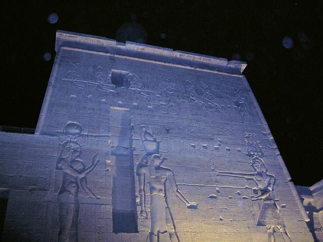 Philae at night